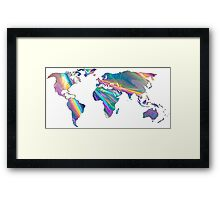 holographic continents Framed Print