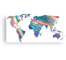 holographic continents Canvas Print