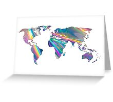 holographic continents Greeting Card