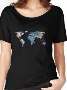 holographic continents Women's Relaxed Fit T-Shirt