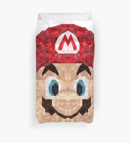 Mario Triangle Art Duvet Cover