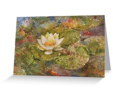 Pond in Summer Greeting Card
