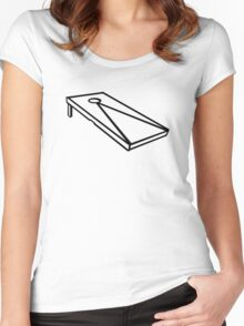 Cornhole Women's Fitted Scoop T-Shirt