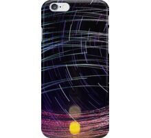 Orbiting Police Helicopter Long-Exposure iPhone Case/Skin