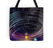 Orbiting Police Helicopter Long-Exposure Tote Bag