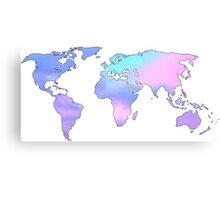 watercolor sky continents Canvas Print