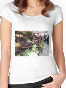 Beaune Market Women's Fitted Scoop T-Shirt