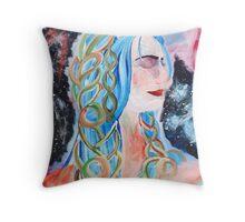 """Home"" Surreal Woman/Pleiades/Orion Throw Pillow"