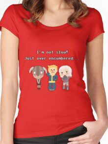 I'm not slow! Just over encumbered...  Women's Fitted Scoop T-Shirt