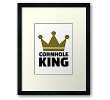 Cornhole king Framed Print