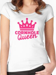 Cornhole queen Women's Fitted Scoop T-Shirt