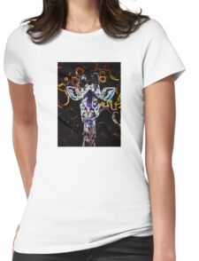 Closeup Neon Womens Fitted T-Shirt