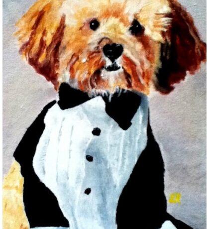 A Fancy Dog Dressed to Impress Sticker