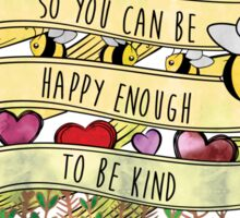Be Kind to Yourself Misha Collins Quote- Color Sticker