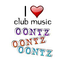 I heart club music Photographic Print