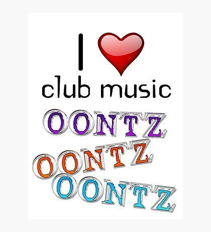 I heart club music Photographic Print