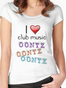 I heart club music Women's Fitted Scoop T-Shirt