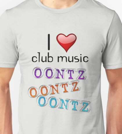 I heart club music Unisex T-Shirt