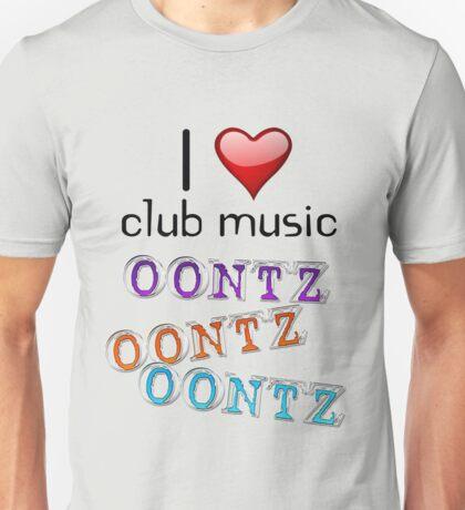 I heart club music Unisex T-Shirt