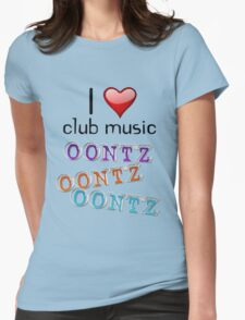 I heart club music Womens Fitted T-Shirt