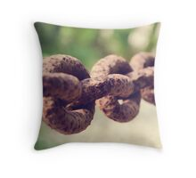 Rusted Chain Throw Pillow