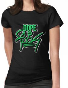Dope as fk - version 1 - gradient Womens Fitted T-Shirt