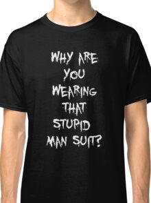 Donnie Darko - man suit (white font) Classic T-Shirt