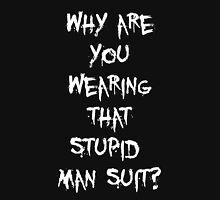 Donnie Darko - man suit (white font) Unisex T-Shirt