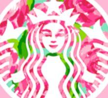 Delta Gamma starbucks logo-pink Sticker
