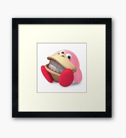 Donkey Kong Kirby Hybrid Framed Print