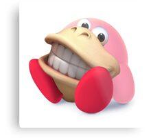 Donkey Kong Kirby Hybrid Metal Print