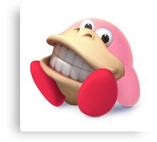Donkey Kong Kirby Hybrid Canvas Print