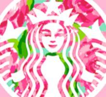 Delta delta delta starbucks logo- pink Sticker
