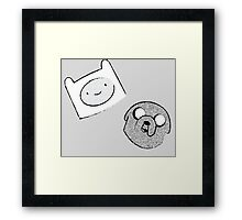 Adventure Time - Finn & Jake - Sketch Framed Print