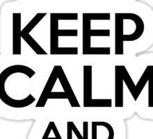 Keep Calm and Read Calvin Sticker
