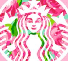 Alpha Phi starbucks logo- pink Sticker