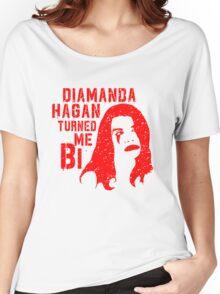 Diamanda Hagan Turned Me Bi (Red) Women's Relaxed Fit T-Shirt