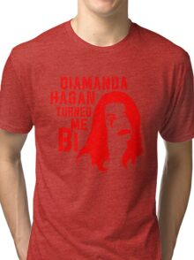 Diamanda Hagan Turned Me Bi (Red) Tri-blend T-Shirt