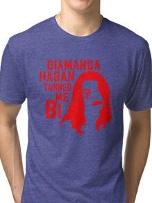 Diamanda Hagan Turned Me Bi (Red) Tri-blend T-Shirt