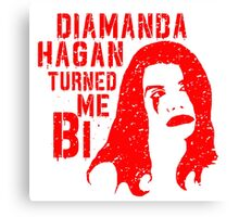 Diamanda Hagan Turned Me Bi (Red) Canvas Print