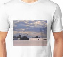 Serenity in the snow Unisex T-Shirt