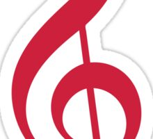 Treble Clef - Red Sticker