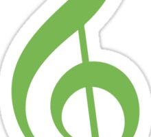 Treble Clef - Green Sticker