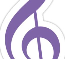 Treble Clef - Purple Sticker