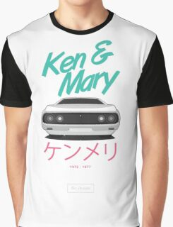Nissan Skyline Kenmeri (Ken & Mary) [White] Graphic T-Shirt