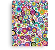 Confetti Dots Canvas Print