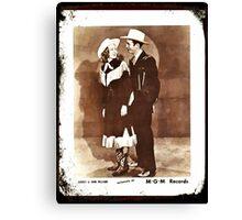 Audrey & Hank Williams Canvas Print