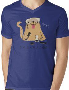 lab-rador Mens V-Neck T-Shirt