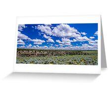 Big Sky and Sage Brush Greeting Card
