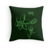 FLOWERSHELLZ Throw Pillow